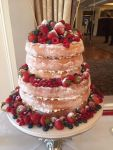 Wedding Cake 2 Tier Naked Cake