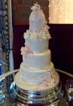 Wedding Cake Birdcage Pink Peach Ivory
