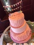 Wedding Cake Buttercreamed Pink Vintage