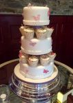 Wedding Cake Butterfly Pearl Pink