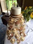 Wedding Cupcakes Lego Brown and Cream