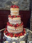 Wedding Cake Naked Fresh Berries