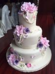 Wedding Cake Vintage Purple Pink