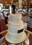 Wedding Cake Ruffles Ivory Black