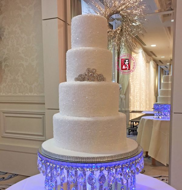 Sugar Sparkle Wedding Cake