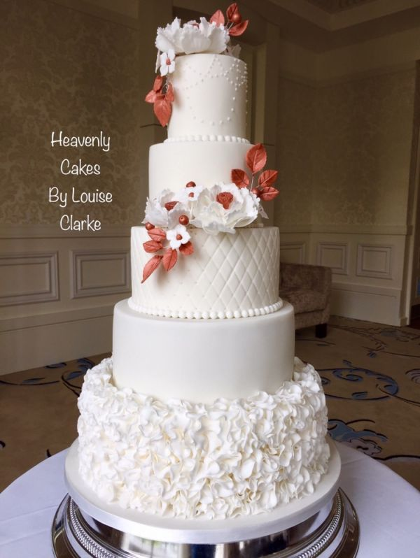 Sugar Ruffles Wedding Cake