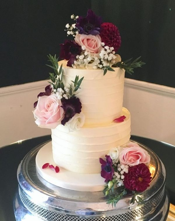 Deep Autumnal Wedding Cake