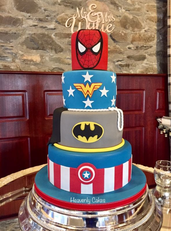 Superhero Wedding Cake