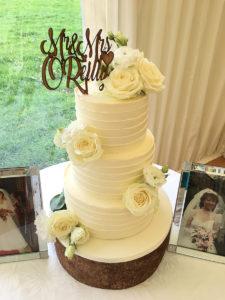 Buttercreamed Wedding Cake