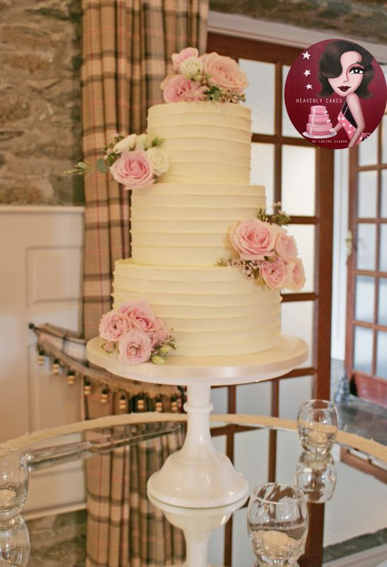 Pink & Ivory Wedding Cake