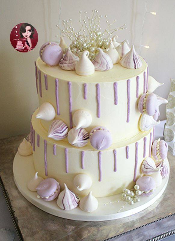 2 Tier Flat Buttercreamed Wedding Cake