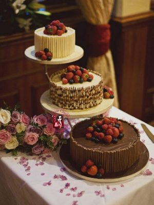 Chocolate & Fruit Wedding Cake