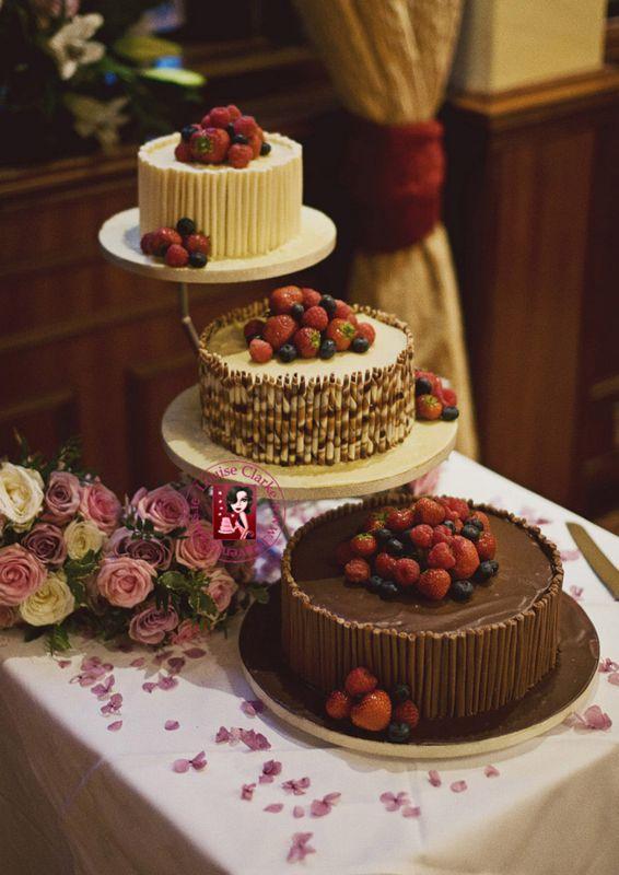 Chocolate & Fruit Wedding Cake