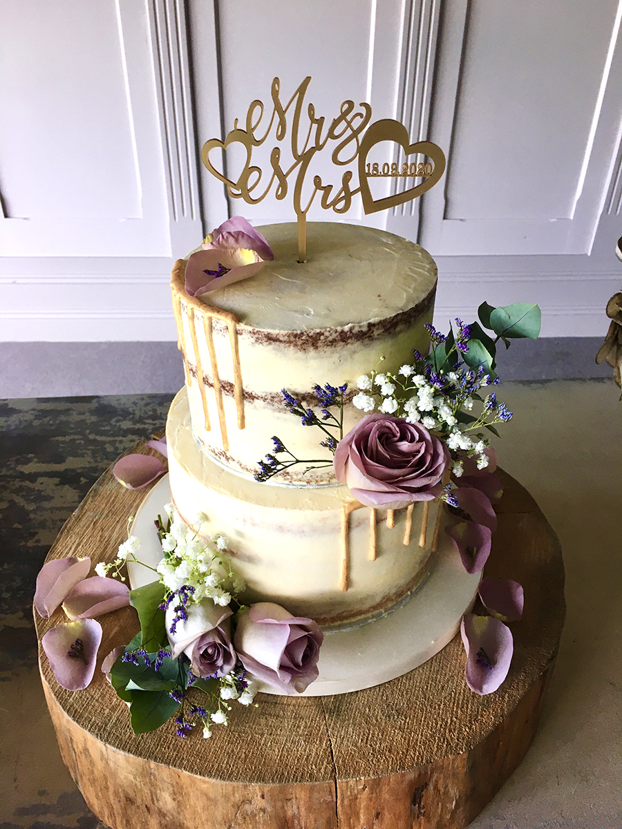 Drip Effect Wedding cake