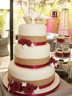 I Do Me Too Wedding Cake